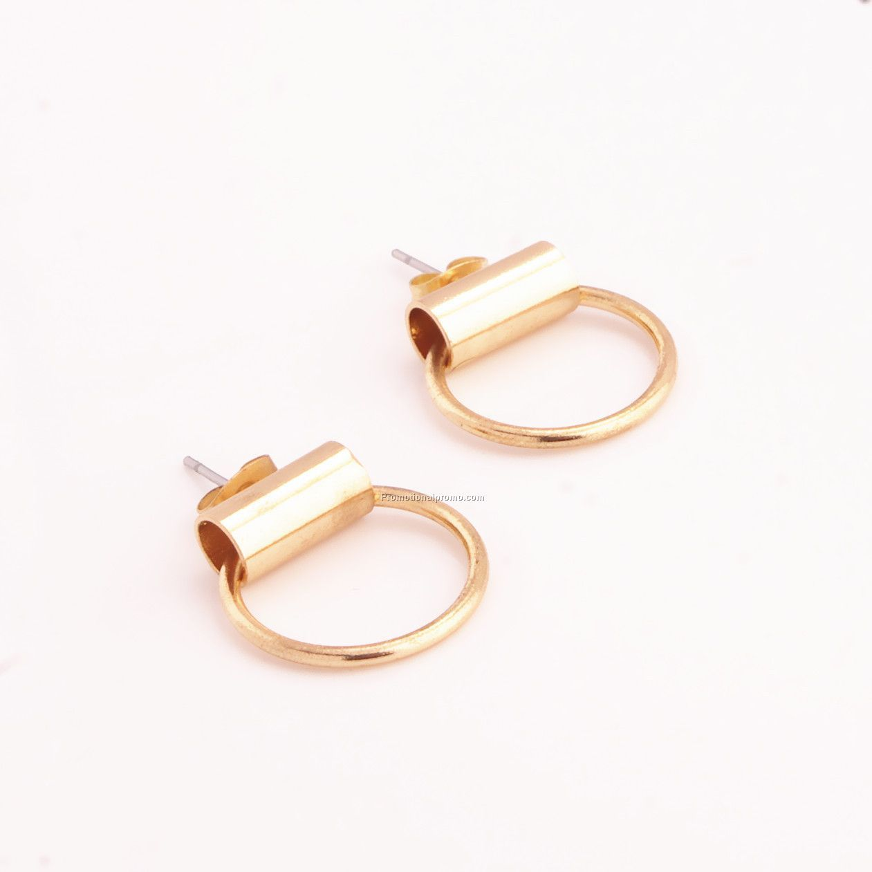 Gold and Silver Latest Fashion Simple Metal Stud Earrings