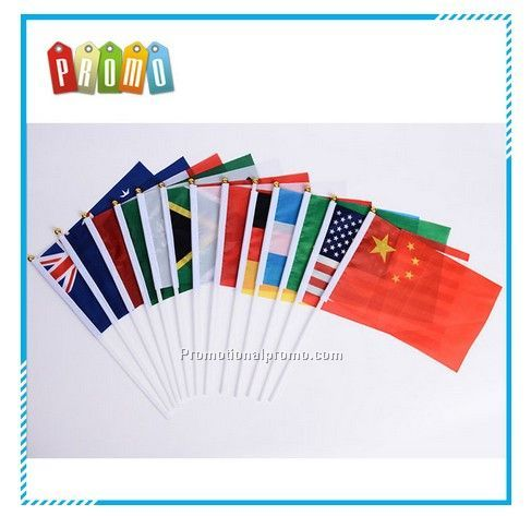 Wholesale Customized Logo Outdoor Hand Held Flags, Promotional Hand Flags