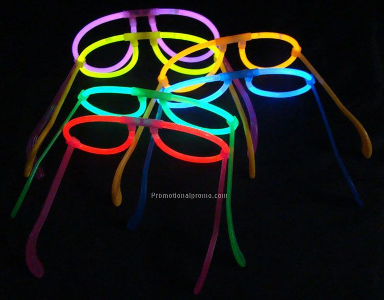 Glow in the dark eyeglasses, Glow eyeglasses in the dark, flashing eyeglasses,