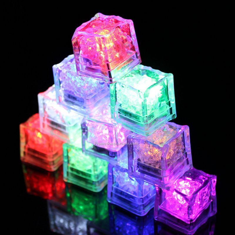 LED Color Changing Ice Cubes Night Light Sensor Light Blinking Flashing Bar Party Lights