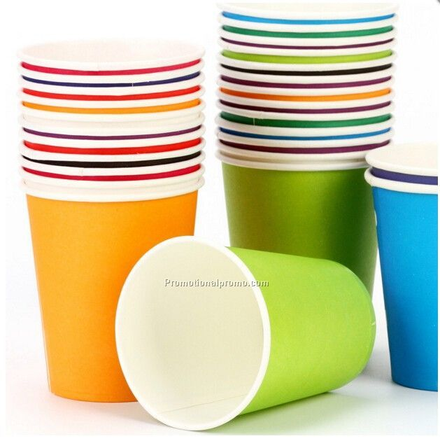 Solid color paper cups
