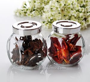 13 Oz Round Glass Jars