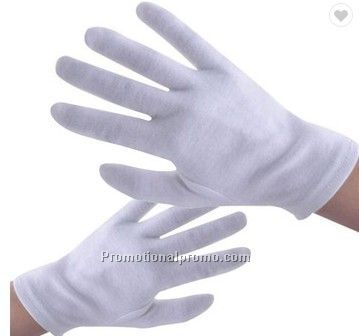 Stocked White Cotton Glove