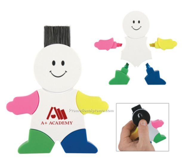 Snow man shaped highlighters, Person shaped highlight markers