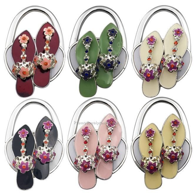 Flip flops Shoe Shaped Folding Purse hook gift