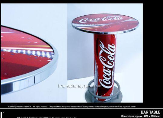 Superb Coca Cola Bar Table