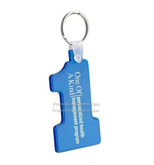 Soft Number One Key Tag