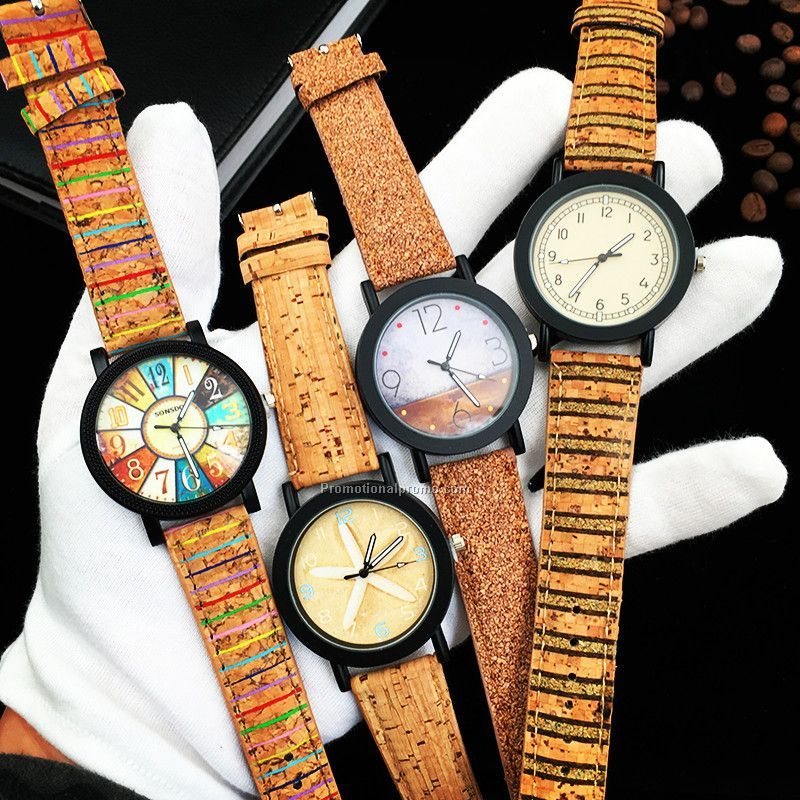 Promotional wood grain watch for ladies