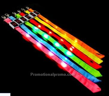 Flashing LED Hanging Belt; Lighting Lanyard