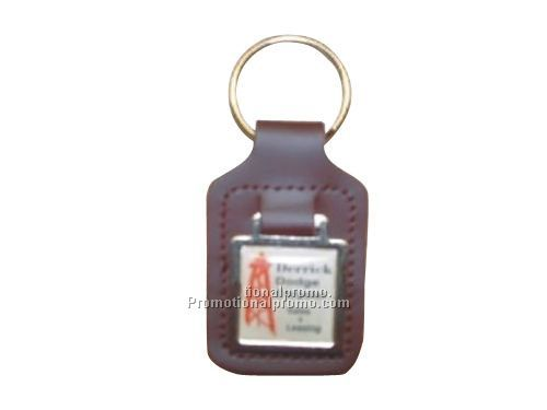 SMALL TEAR SHAPED - SQUARE METAL- ACRYLIC MEDALLION KEY FOBS