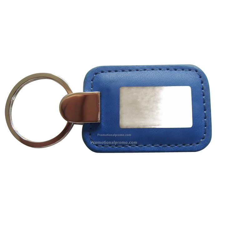 Customized metal leather keychain