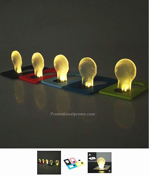 bulb flashing card light