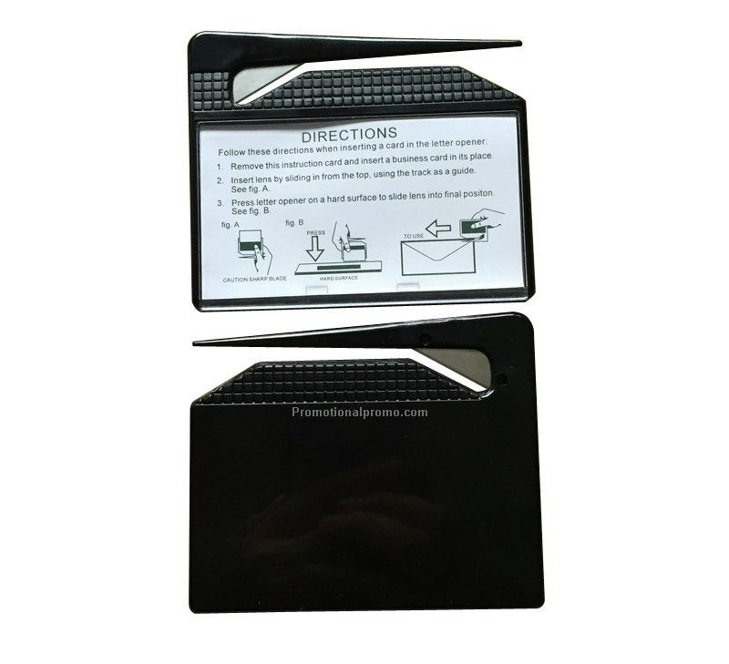 rectangle business card letter opener with window