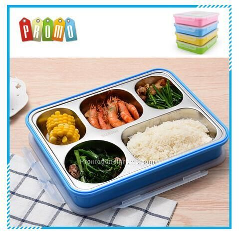 Wholesale 304 stainless steel leakproof lunch box with compartment