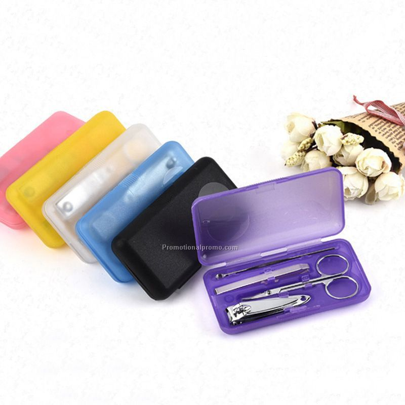 Mini 4pcs manicure set with plastic box