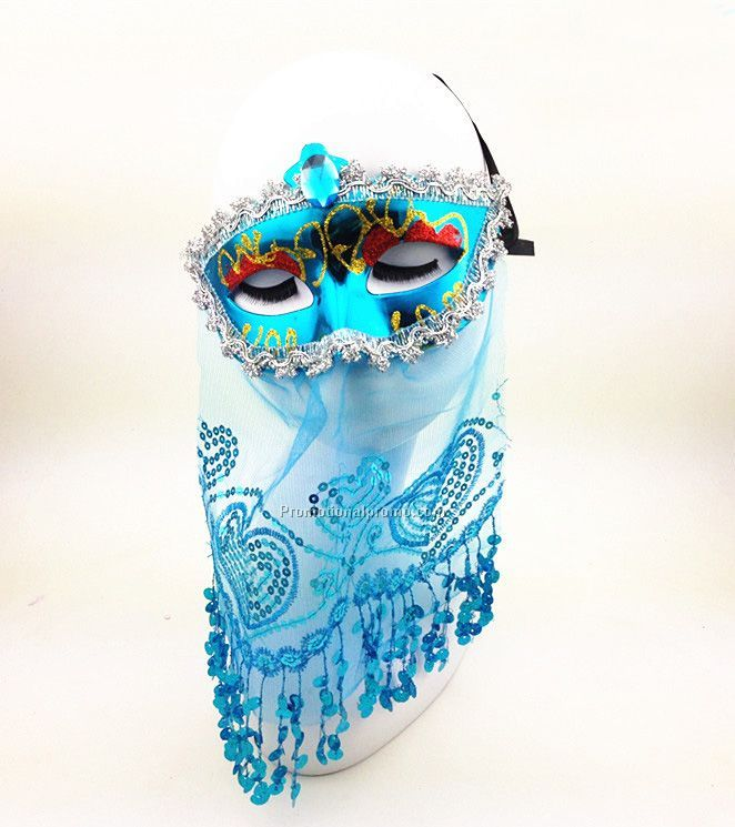 Europe and America newly beautiful mask for children, Venice princess veil mask for dancing party