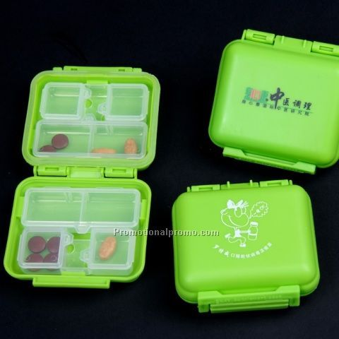Plastic household medicine box (4 parts)