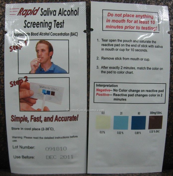 Disposable Alcohol Tester