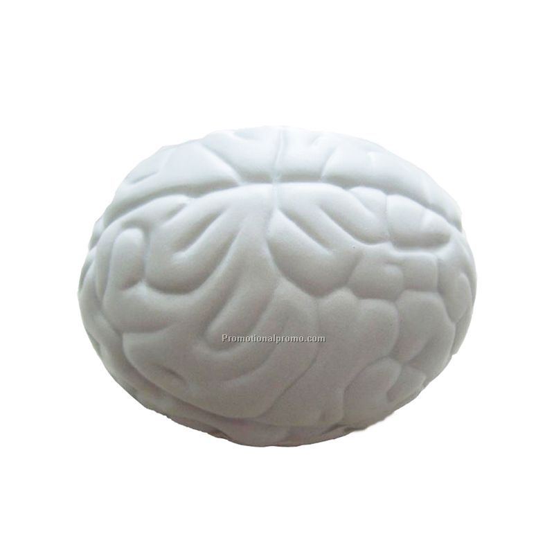 brain shape pu stress ball