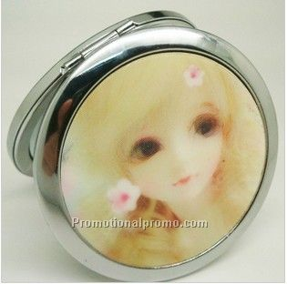 Promotional 3D cosmetic compact mirror