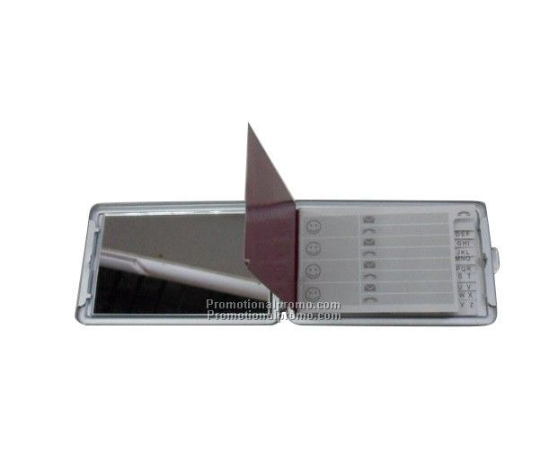 Portable mirror with telephone book