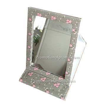 PU Leather Folding Desktop Cosmetic Mirror Makeup Mirror