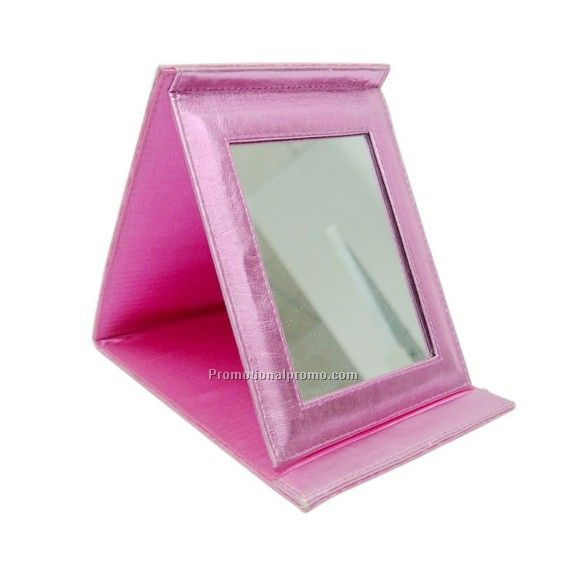 Foldable PU Comestic Mirror