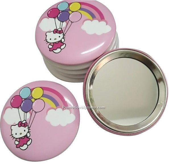 Custom Round Metal single side pocket mirror