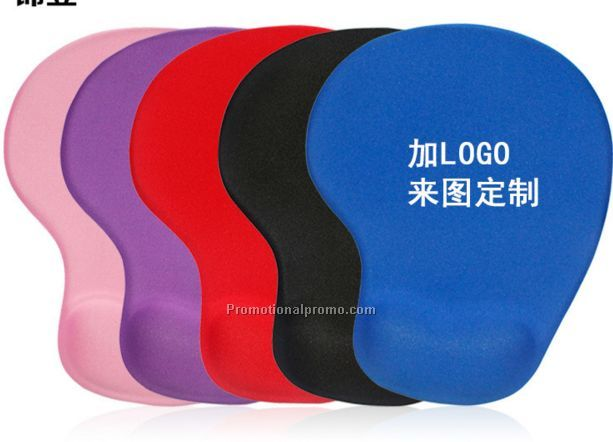 Promotional mouse pad, Hi-tek Color Mouse Pad With Ergonomic Wrist Rest