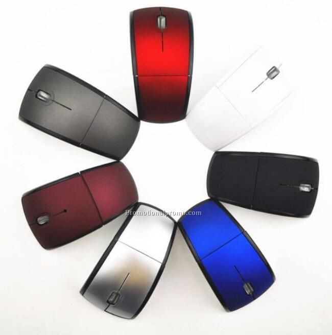 Foldable USB wireless optical mouse