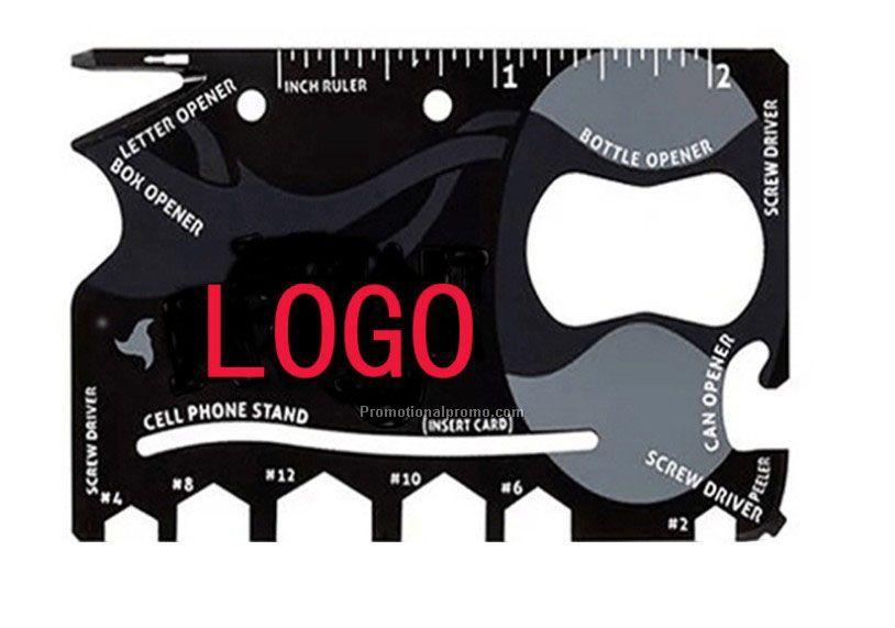 Stainless steel metal ruler knife bottle opener business multi tool stainless steel metal ruler knife bottle opener business multi tool card 12 in colourmoves
