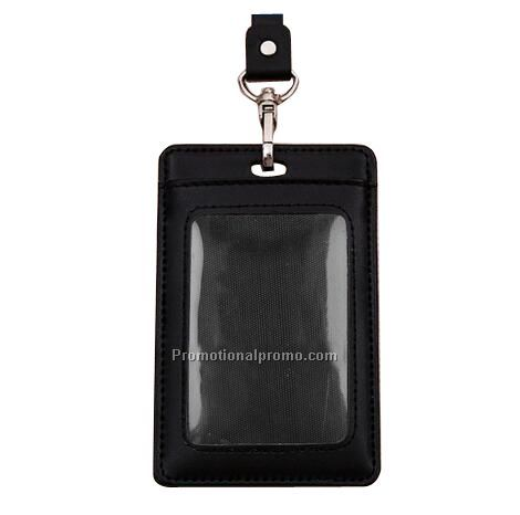 Wholesale Leather ID Card Holder With Leather Lanyard