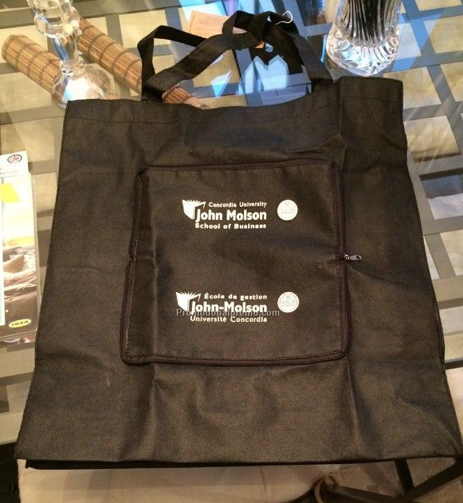 Reusable bags with one logo two position on it