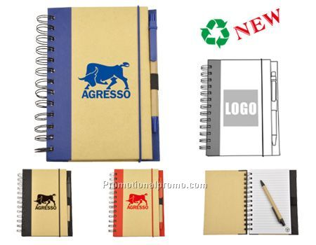 ECO-friendly Notebook with Ball Pen