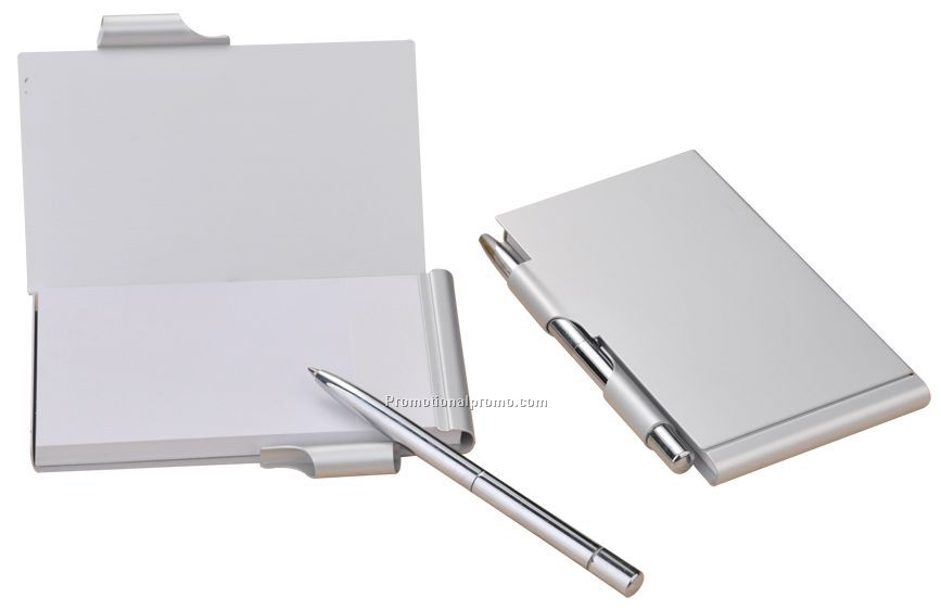 HOT SELL Aluminum pocket notebook with pen
