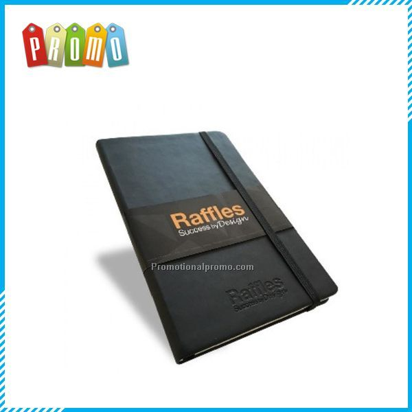 A5 PU Leather Notebook with Paper Sleeve