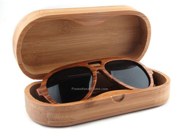 Bamboo wood sunglasses box