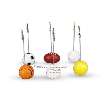 Golf/Soccer/Basket Ball/Baseball Note Crad And Photo Holder,Memo Clip Stand