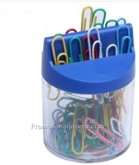Trapexoid Psperclip Holder Cylindrical Paperclip Holder