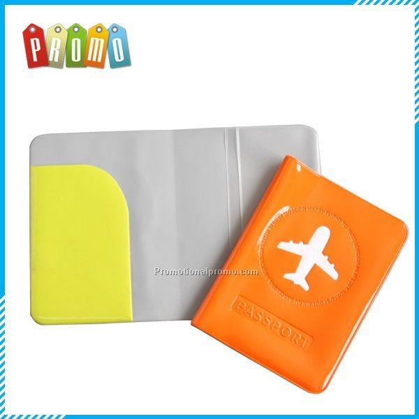 Promotional Customized color PVC travel Passport Cover