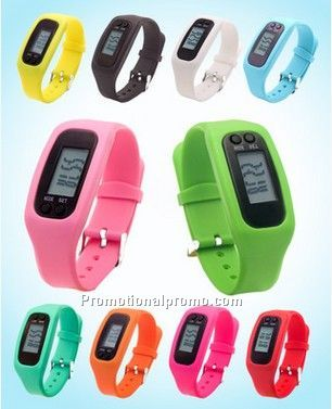 silicon pedometer watch