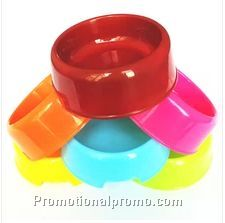 Plastic dog bowl or pet food bowl
