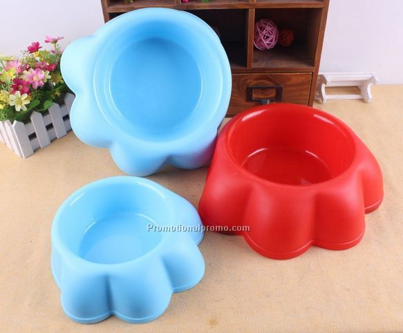 Cheap plastic paw shape pet bowl