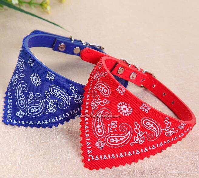 Fashion Dog small PU Triangle collar