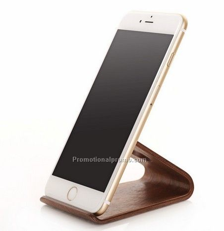 Wooden mobile phone holde