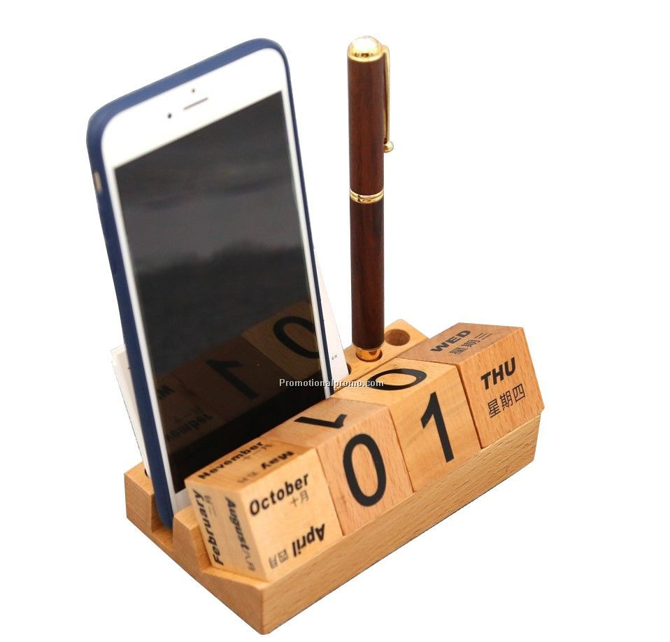 Creative calendar cell phone holder