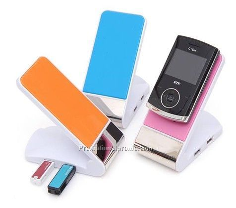 Mobile Phone Holder with Four USB hub and Emergency cell phone chargers