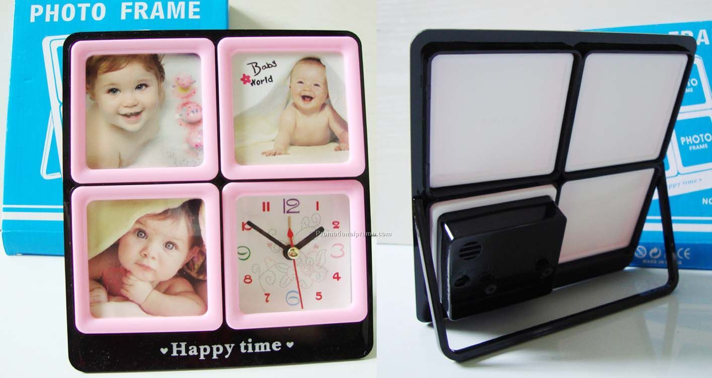 Interchangeable frame with alarm clock