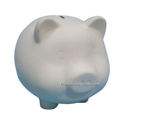 DIY White Ceramic Piggy Bank
