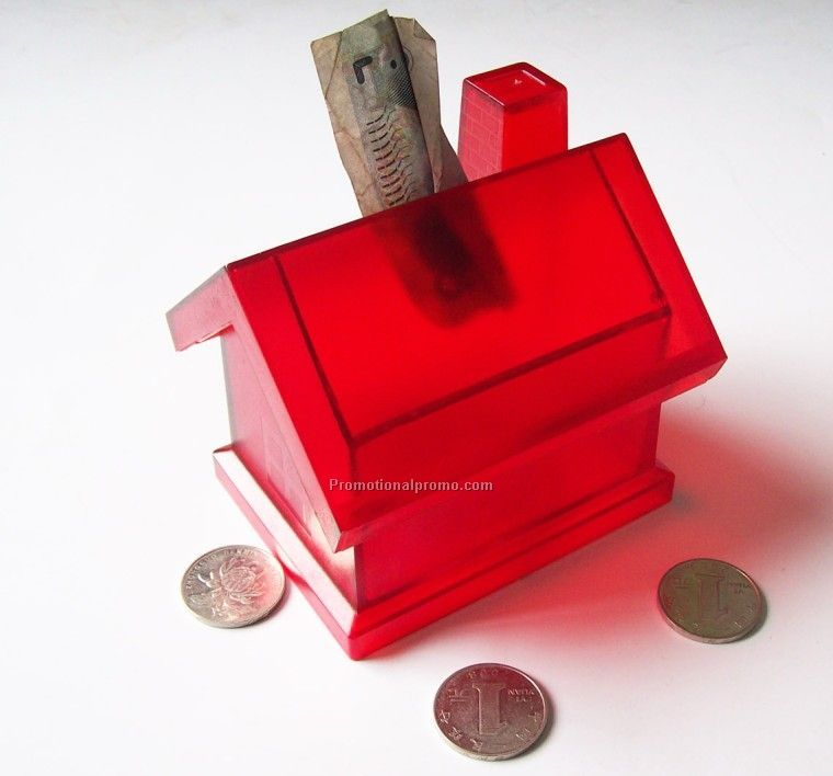 Plastic House Coin Bank